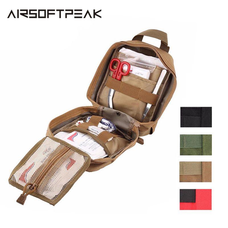 AIRSOFTPEAK trousse de premiers soins médical tactique MOLLE Portable en plein air voyage Camping Kit survivre sac couverture chasse trousse d'urgence