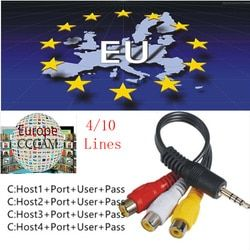 Europe HD cable 1 Year CCams for Satellite tv Receiver 10 Clines WIFI FULL HD DVB-S2 Support Cccams cccam cline ccam