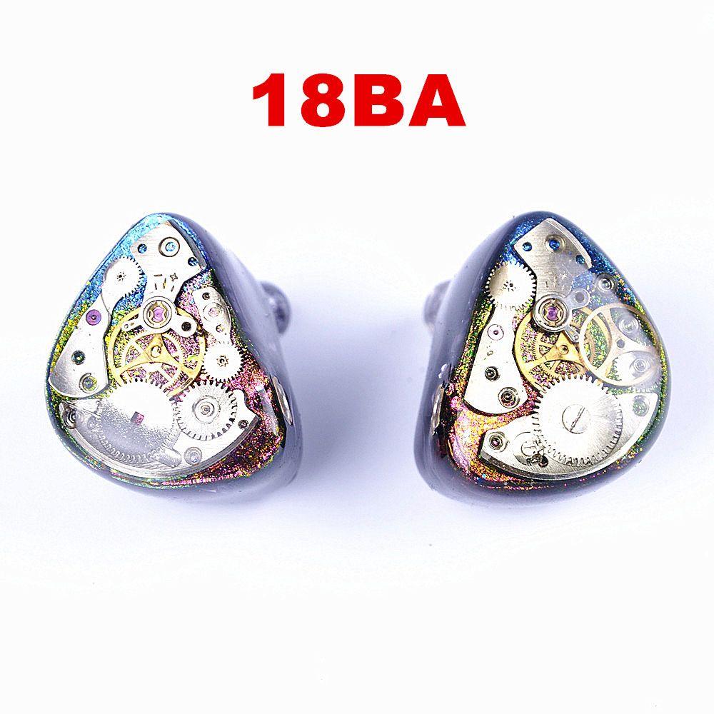 Wooeasy 18BA Nach Maß Ausgewogene Anker Töten UE900 SE846 K3003 Um Ohr Kopfhörer Mit MMCX Ohrhörer EMS DHL freies
