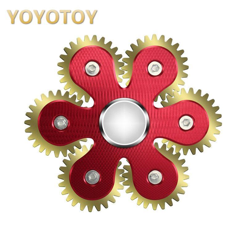New 6 Gears R188 Bearing Fidget Spinners Handspinner Hand Spinners Finger Toys Metal Aluminum Alloy Christmas Toys for Children