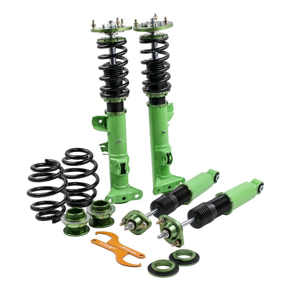 Coilovers Shock Suspension Kit for BMW E36 93-99 3 Serie Adj. Height & Camber 316 318 323 325 328 M3 Coilover Struts Green Strut