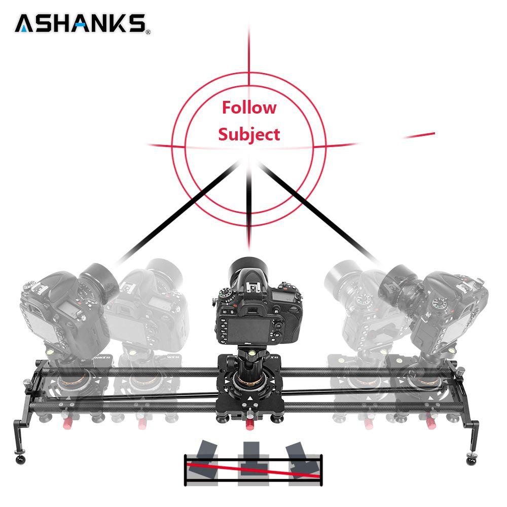 ASHANKS 60cm 4 Bearings Carbon Fiber DSLR Camera DV Slider Track Video Stabilizer Rail Track Slider For DSLR or Camcorder