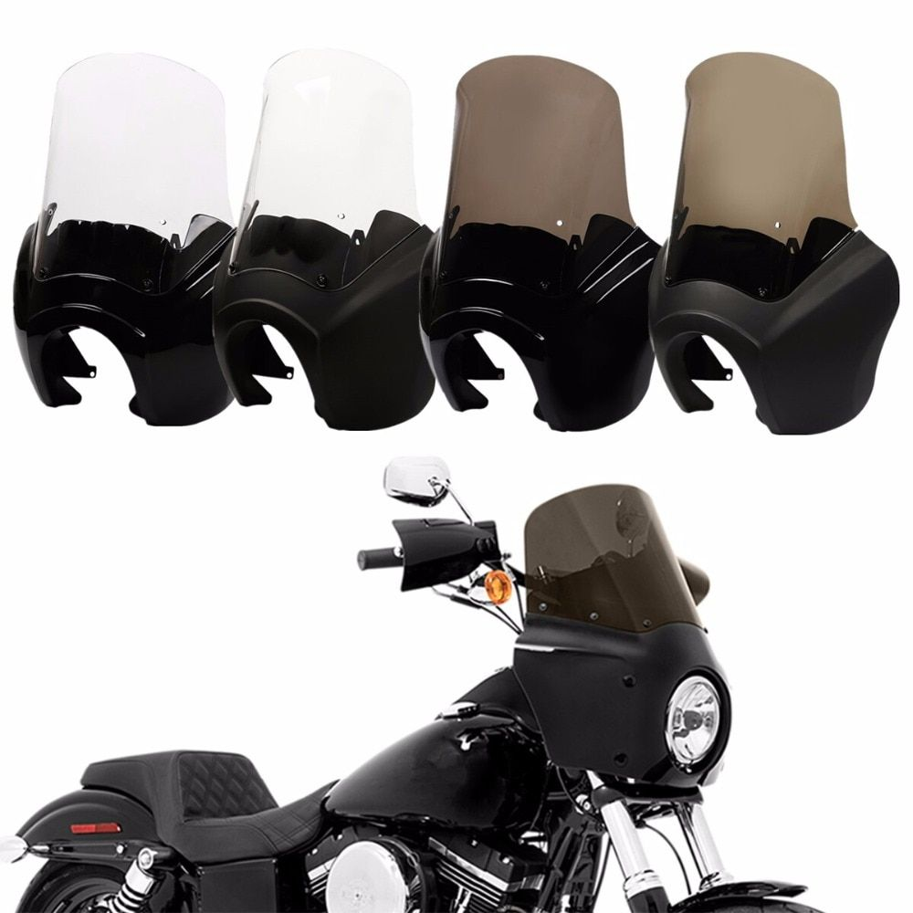 Front Headlight Fairing Windshield Cover For Harley Dyna Low Rider Super Wide Glide Fat Street Bob FXDL FXDF FXDXT motorcycle