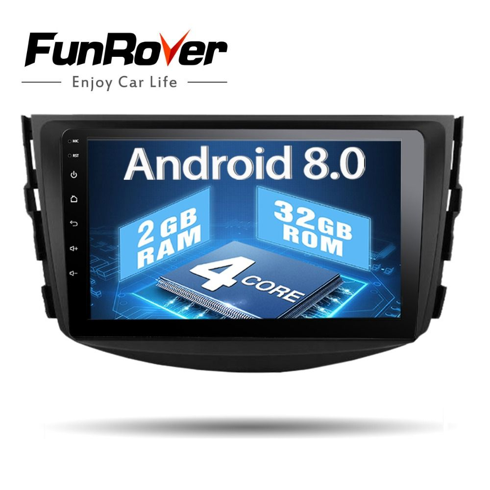 Funrover Android8.0 IPS 2 din Auto dvd Player Für Toyota RAV4 Rav 4 2007 2008 2009 2010 2011 Auto radio band recroeder gps WIFI BT