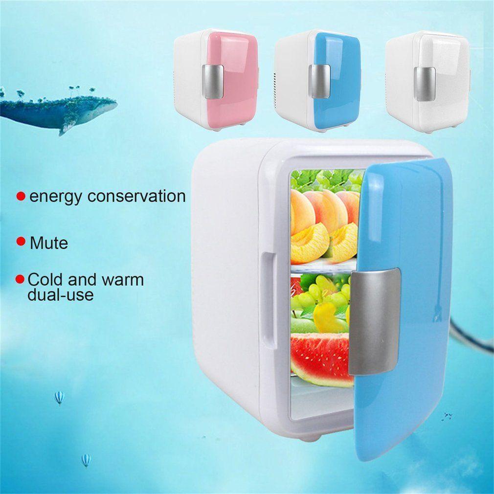 4L Car Refrigerators Ultra Quiet Low Noise Car Mini Refrigerators Freezer Cooling Heating Box Fridge Home Outdoor