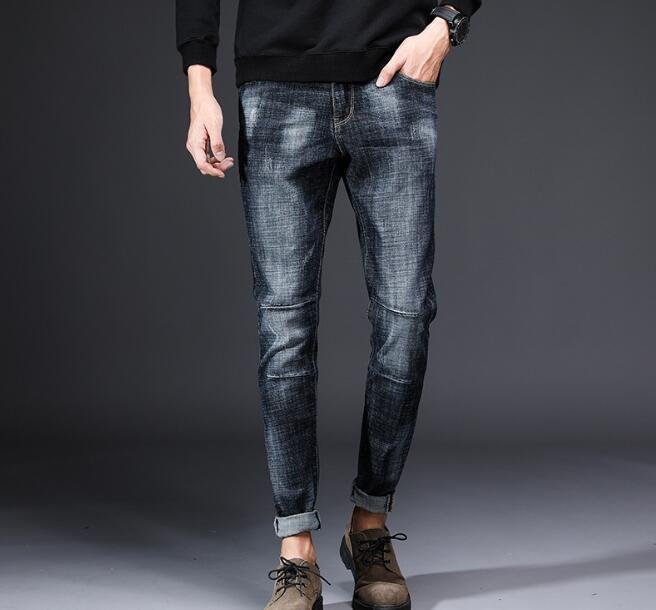 2018 Populaire Nouveau Design Hommes de Casual Stretch Printemps Mince Jeans