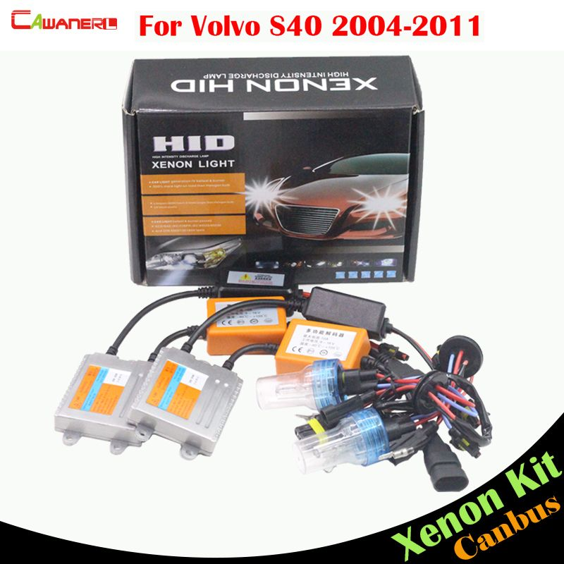 Cawanerl 55W Car HID Xenon Kit AC Canbus Ballast Bulb 3000K 4300K 6000K 8000K Car Headlight Low Beam For Volvo S40 2004-2011