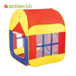 Actionclub Anak-anak Teepee Tenda Mainan Bermain Rumah Tenda Lipat Anak Tipi Tenda untuk Anak Baby Girl Boy Lingkungan Portabel Tenda