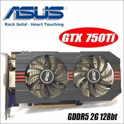 Utilisé Asus GTX-750TI-OC-2GD5 GTX750TI GTX 750TI 2G D5 DDR5 PC De Bureau graphique vidéo Cartes PCI Express 3.0 GTX 750 ti 1050 GTX750