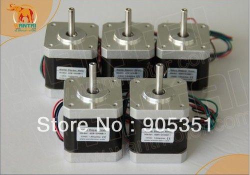 Haute qualité!!! 5 PCS CNC Nema17 pour 1.7A, 4000g. cm, 40mm longueur, 2 phase Wantai Moteur pas à pas