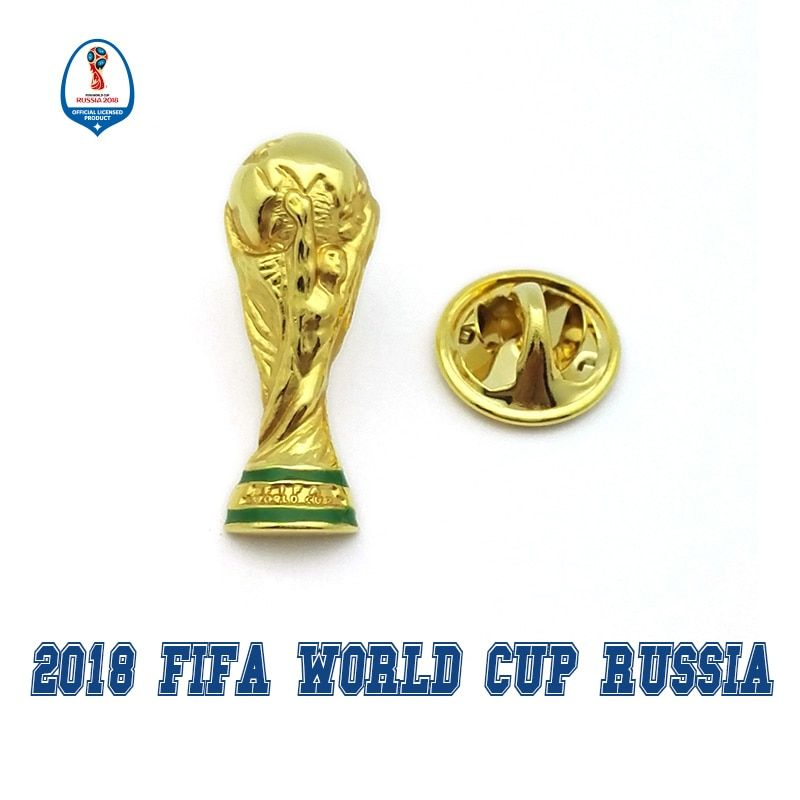 Officially authorized world cup 2018 football Russia 2018 national team Hercules Cup badge fan souvenir limited Zabivaka
