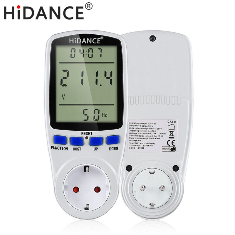AC digital voltmeter ammeter power supply voltage meters detector wattmeter volt current tester Measuring EU UK socket <font><b>analyzer</b></font>