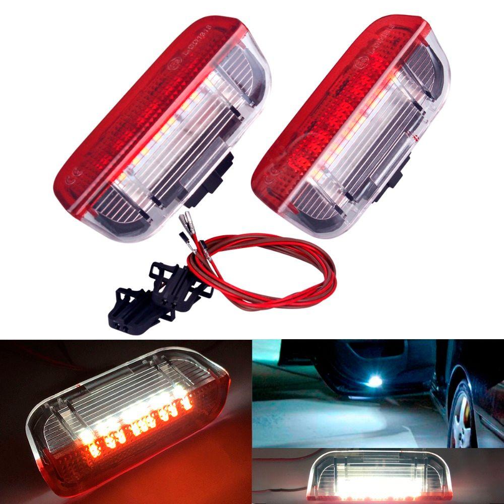 2 шт. LED двери автомобиля Предупреждение Свет Добро пожаловать проектор для VW Passat B6 B7 CC Гольф 6 7 Jetta MK5 MK6 Tiguan Scirocco с проводов