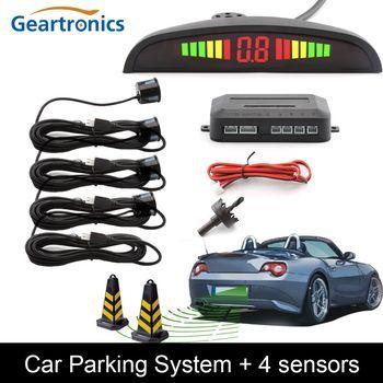 парктроник для авто Парктроник Авто парктроник LED Парковка Сенсор с 4 Датчики обратный резервный радар парковки Мониторы детектор Системы П...