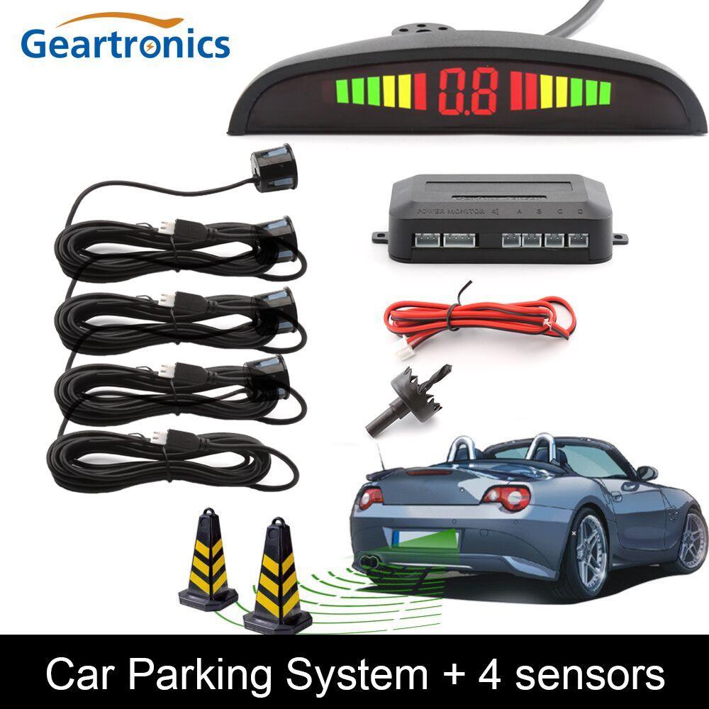 Car Auto Parktronic LED Parking Sensor With 4 Sensors Reverse <font><b>Backup</b></font> Car Parking Radar Monitor Detector System Backlight Display