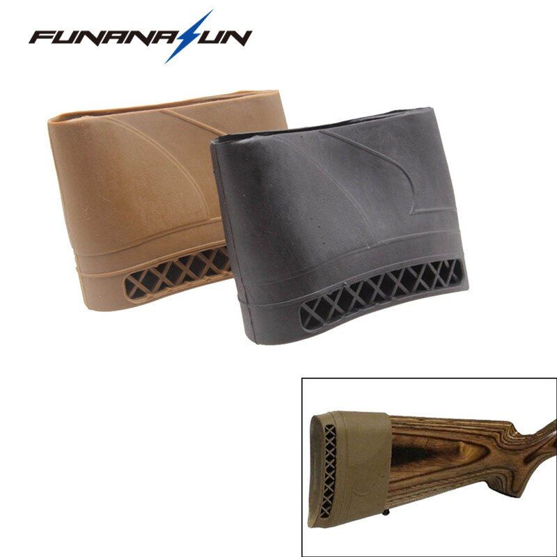 Hunting Rifle Rubber Recoil Pad Tactical Shotgun Slip-On Buttstock Extension Protector Rubber Gun Butt Accessories
