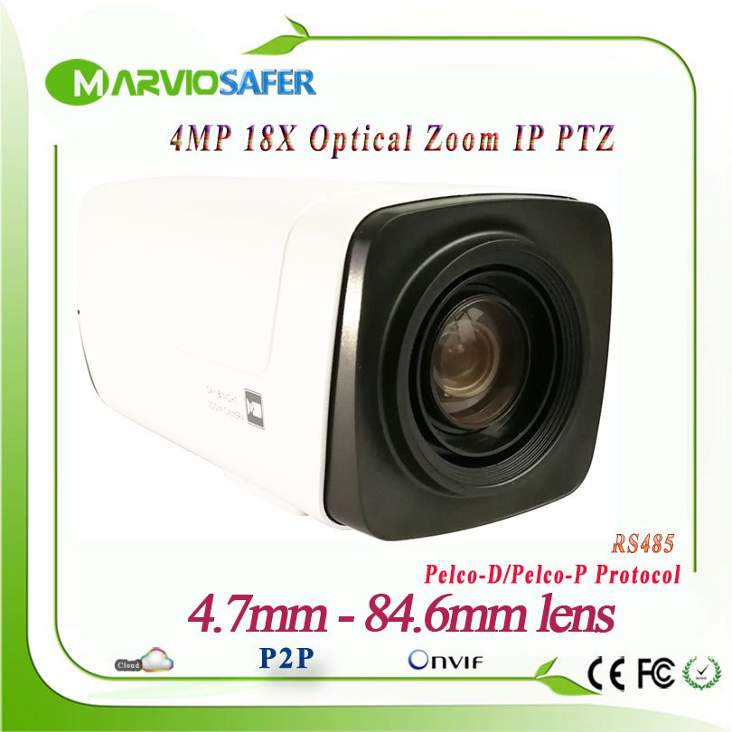 4MP H.265 IP Network PTZ Box Camera Module CCTV Camara 4.7-84.6mm 18X Optical Zoom PELCO-D/PELCO-P, Sony Visa RS485 Onvif POE