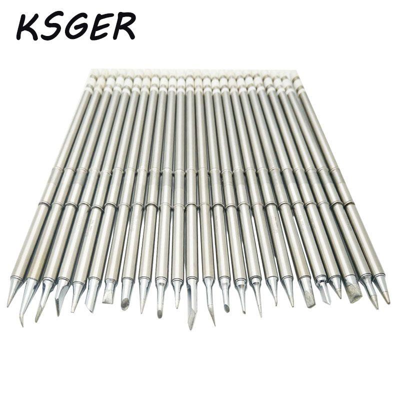 KSGER T12 Soldering Solder Iron Tips T12 Series Iron Tip For Hakko FX951 STC AND STM32 OLED Soldering Station