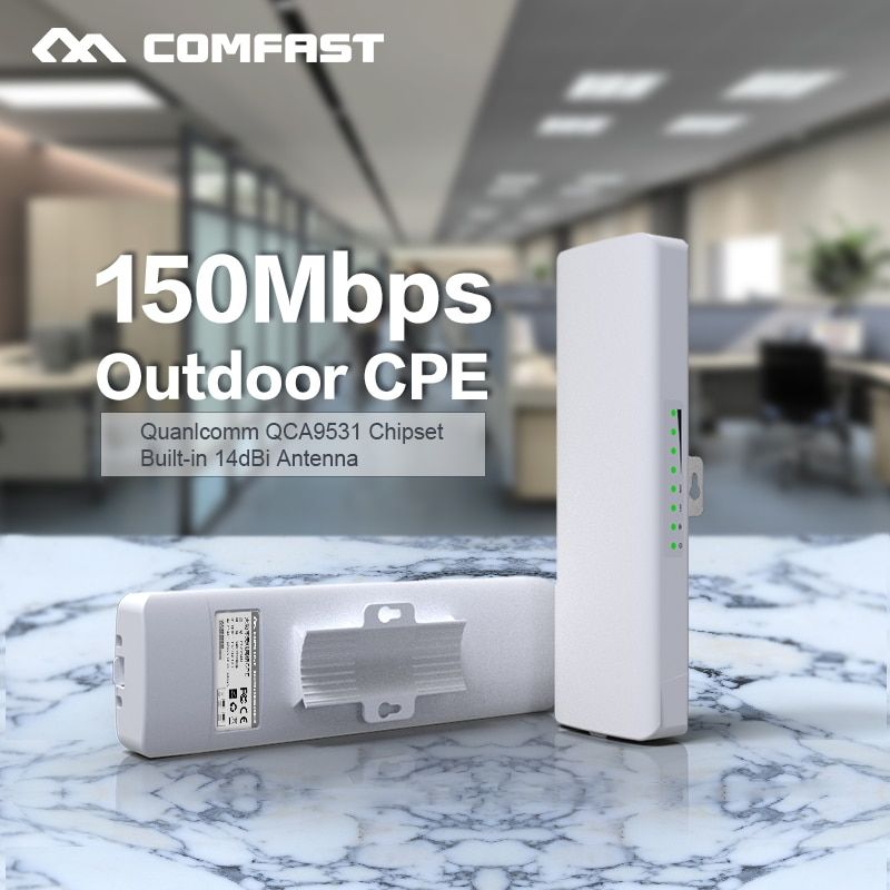Comfast CF-E214NV2 2.4G Wireless outdoor router 2KM WIFI <font><b>signal</b></font> booster Amplifier WDS Network bridge 14dBi Antenna wi fi access