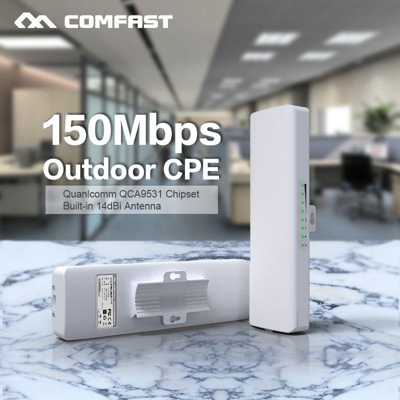 Comfast CF-E214NV2 2.4G Wireless outdoor router 2KM WIFI signal booster <font><b>Amplifier</b></font> WDS Network bridge 14dBi Antenna wi fi access