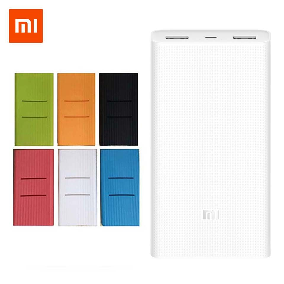 Original Xiaomi Power Bank 20000mAh 2C External Battery portable charging Dual USB QC3.0Mi 20000 mAh Powerbank charger for phone