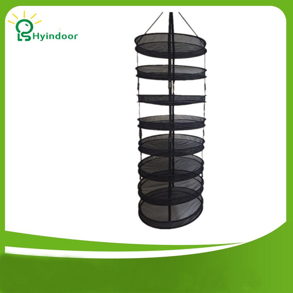 8 niveaux diamètre 60 cm détachable récolte sèche Rack fil maille sacs à linge suspendus herbe séchage panier à vêtements