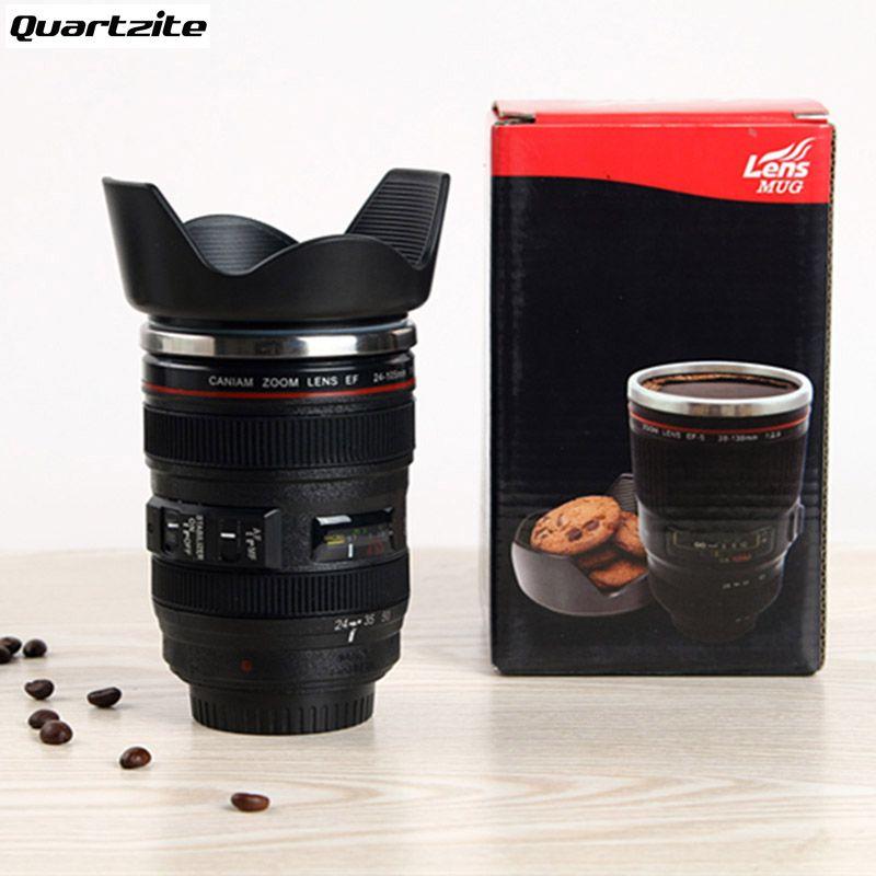 400 ML Creative Tasses et Tasses Cadeau ventes Chaudes 24-105mm 3ème Camera Lens Tasse 1:1 Acier Inoxydable café Thé Tasse