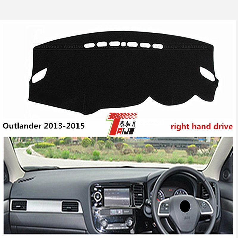 TAIJS right hand drive  for Mitsubishi Outlander 2013-2015 car dashboard Pad sun-proof Mat for Mitsubishi Fashion style