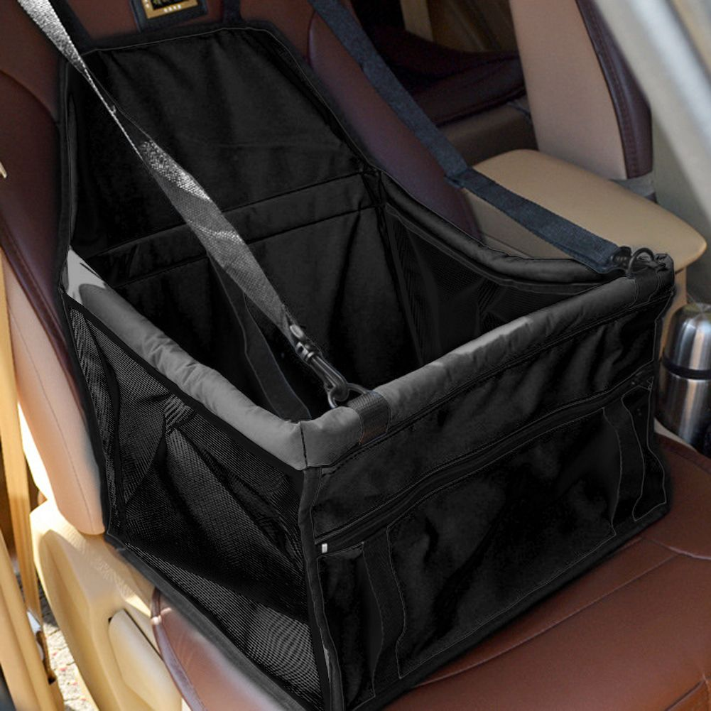 Folding Pet Carrier Cat Car <font><b>Seat</b></font> Pad Safe Travel Carry House Dog Puppy Handbag Sided Bag Car Waterproof Dog Bag Basket 5 Colors