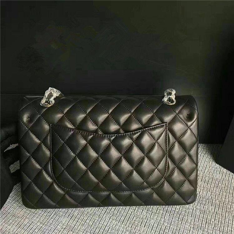 Free DHL Shoulder Bag Women Classics Woc Plain Lamb leather Double Flap Crossbody Bag Caviar Jumbo Handbag Gold Silver Chain