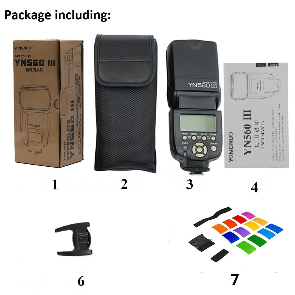 YONGNUO YN560III YN560-III YN560 III Wireless Flash Speedlite Speedlight For Canon Nikon Olympus Panasonic Pentax Camera