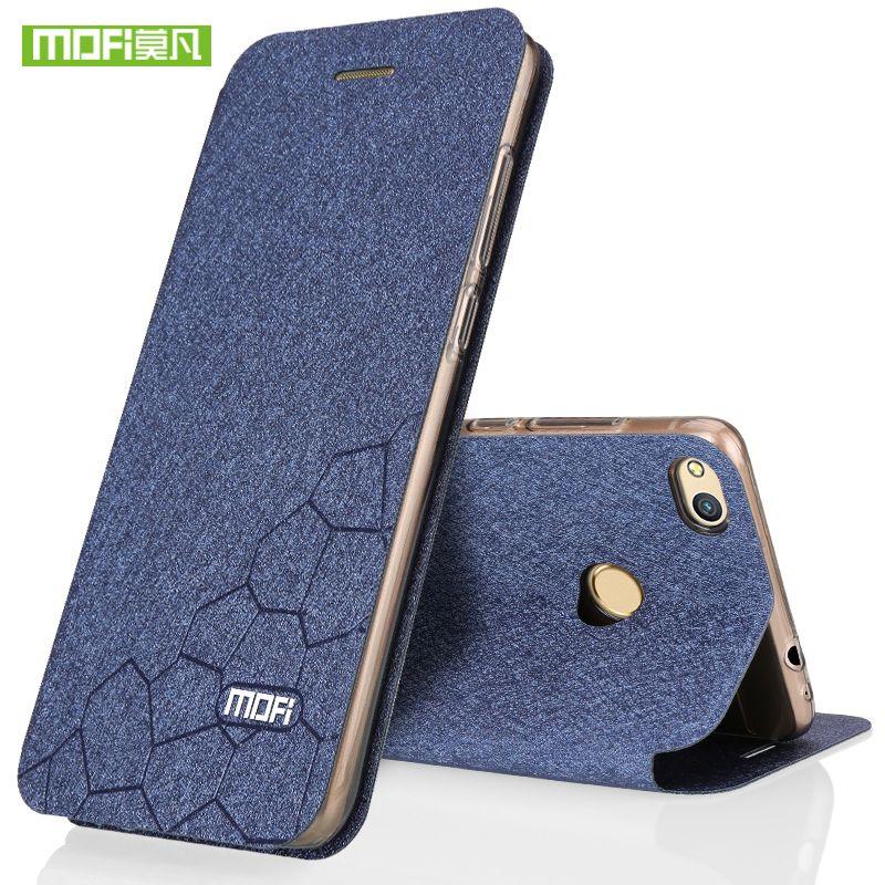 Huawei Honor 8 Lite étui flip en cuir Mofi marque paillettes Honor 8 étui silicone couverture arrière ultra mince TPU fundas 2017 portefeuille