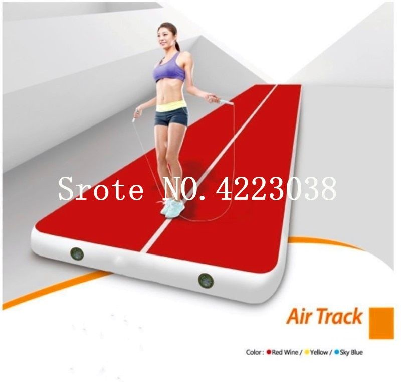 Free Shipping Rectangle 6m*2m Inflatable Cheap Gymnastics Mattress Gym Tumble Airtrack Floor Tumbling Air Track For Sale