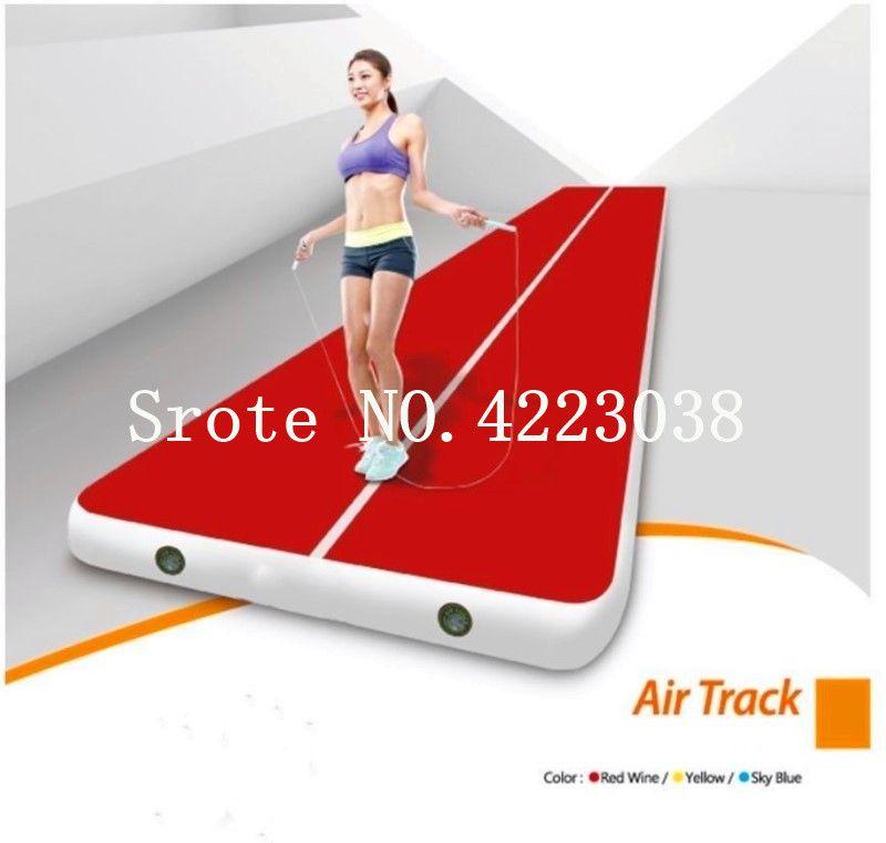 Kostenloser Versand Rechteck 6 mt * 2 mt Aufblasbare Günstige Gymnastik Matratze Gym Wäschetrockner Airtrack Boden Taumeln Air Track Für verkauf