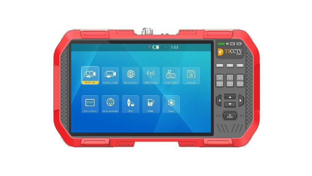 Neue 7 Inch 5 In 1 H.265 4 K HD IP CCTV Tester Monitor AHD CVI TVI CVBS Kamera Test 8MP ONVIF HDMI Eingang Multimeter Optische faser