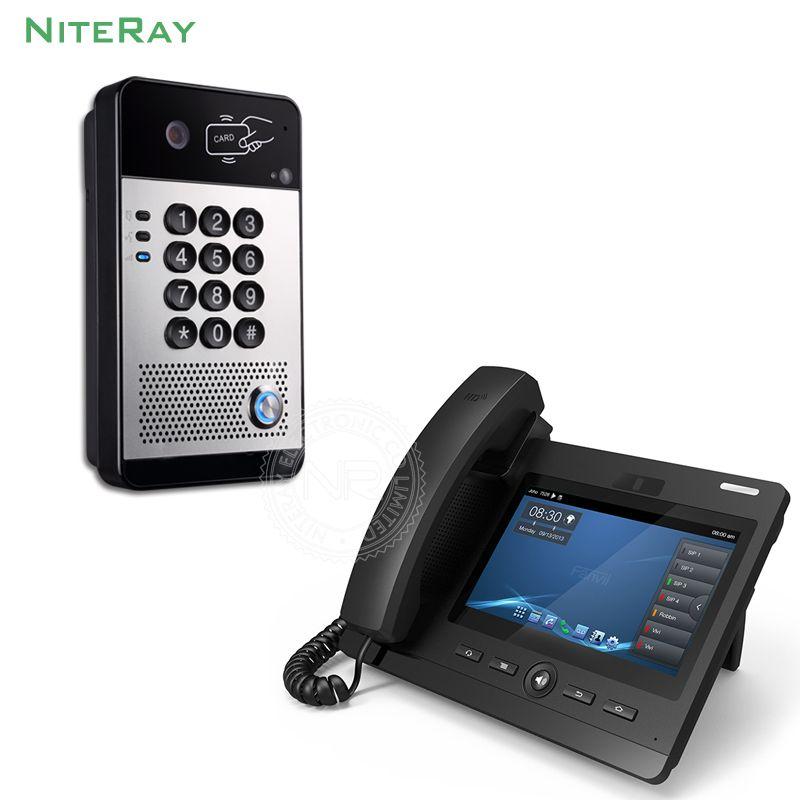 Access Control SIP Tür Telefon Mit RFID & Touch Tastatur Unterstützung Passwort & Swiping Karte zu Öffnen die Tür
