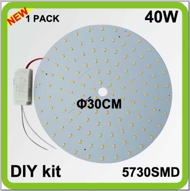 2 ans de garantie 1 PACK bricolage kits 40 W LED plaque plafonnier disque LED techo PCB LED tube circulaire dia30cm 4200lm monté en surface
