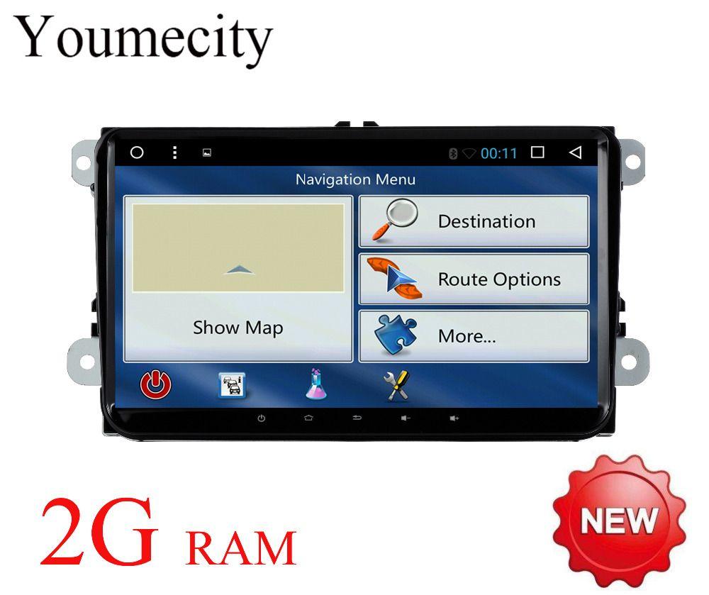 Octa Core Android 7.1 Car player Gps Radio multimedia for Volkswagen VW GPS Radio Passat B5 B6 B7 CC Caddy Leon Seat 2008 -2018