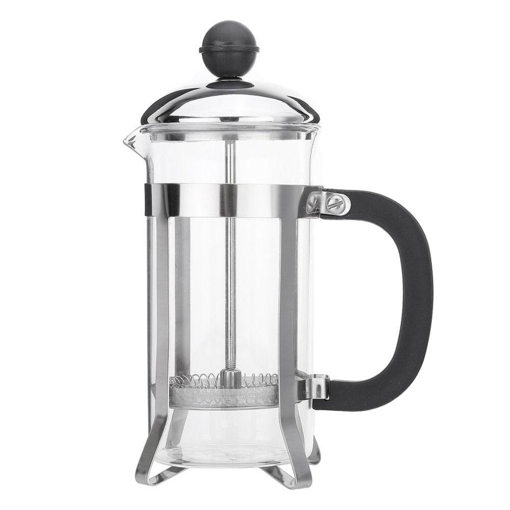 350 ML taille compacte usage domestique en acier inoxydable verre français presse Pot filtre Cafetiere thé cafetière outil