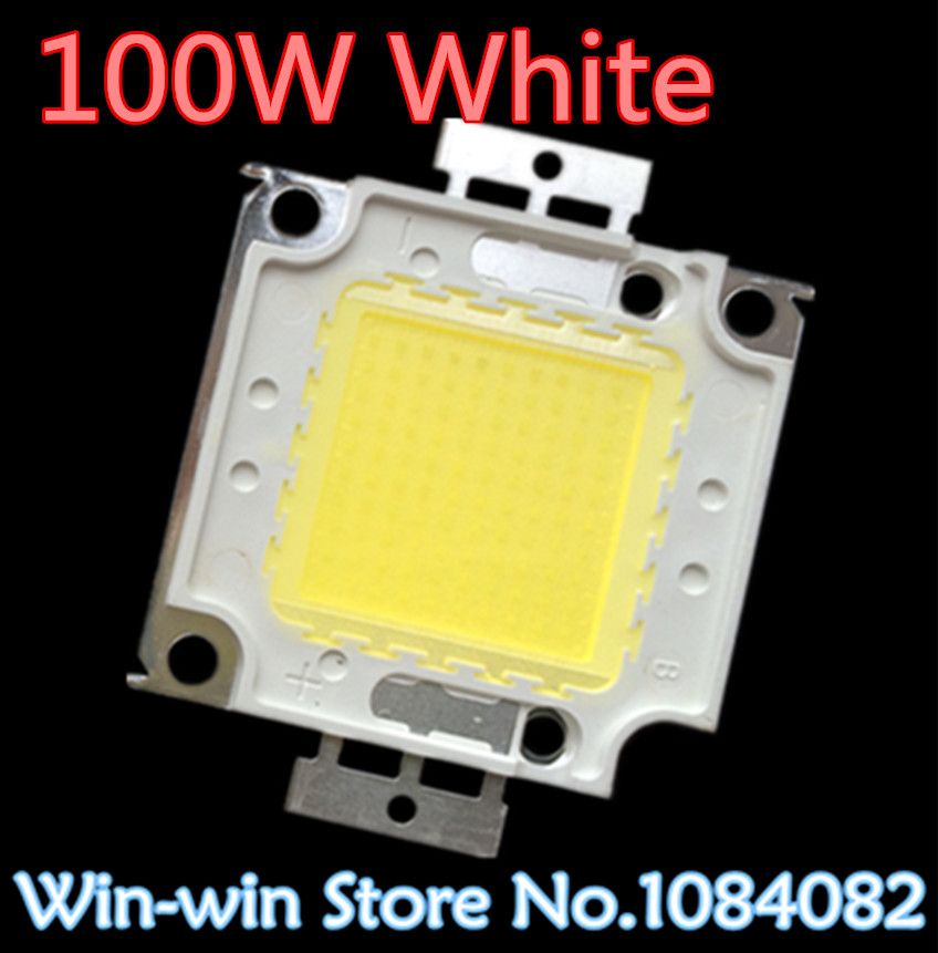 1PCS 100W LED 100W white LED Integrated High Power Lamp Beads tetragonum White 3000mA 32-34V 8000-9000LM 24*40mil Huga Chip