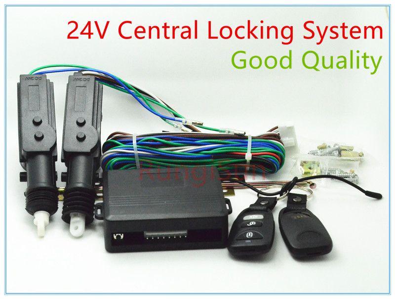 24V Truck Central Locking System DC 24V Window Actuator Remote Contral Remote Key