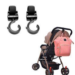 2 unids/lote cochecito de bebé accesorios 360 cesta cochecito de bebé multifuncional ganchos Útil Accesorios percha ganchos