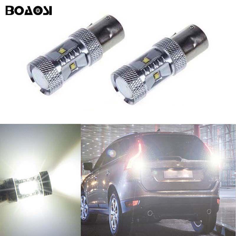 BOAOSI 2x 1156 P21W 30W High Power Car LED Rear Reversing Tail Bulb For volvo xc90 xc60 v70 s80 s40 v60 c30 v50