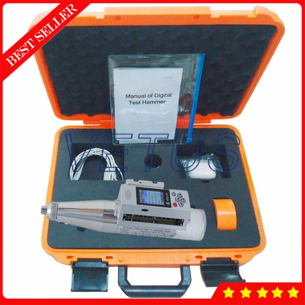 HT225-W + Integrierte Voice Digitale Schmidt Beton Test Hammer mit 408000 prüfung ergebnisse Daten lagerung HT-225W +