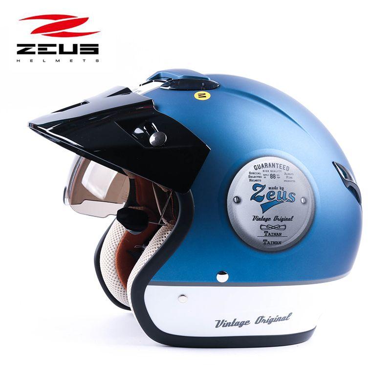 ZEUS 382 open face 3/4 motorcycle motorcross Casco Capacete helmet, scooter helmet Vintage retro motorcycle safety helmet
