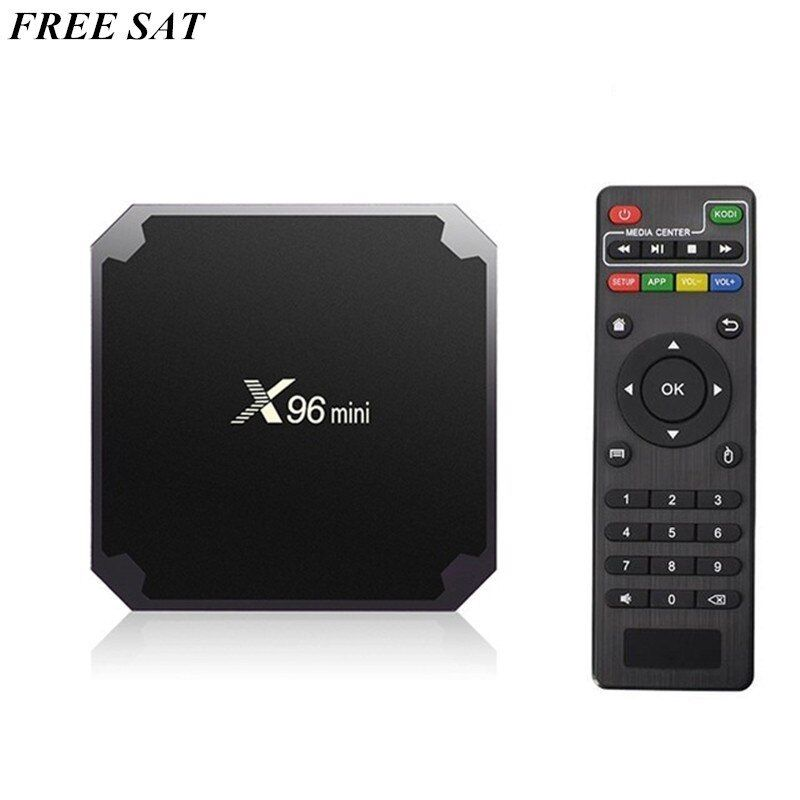 2GB /16GBAndroid 7.1 X96 mini Smart Set-top TV BOX S905W Quad Core Support 2.4G Wireless WIFI Set Top Box With IR Cabel
