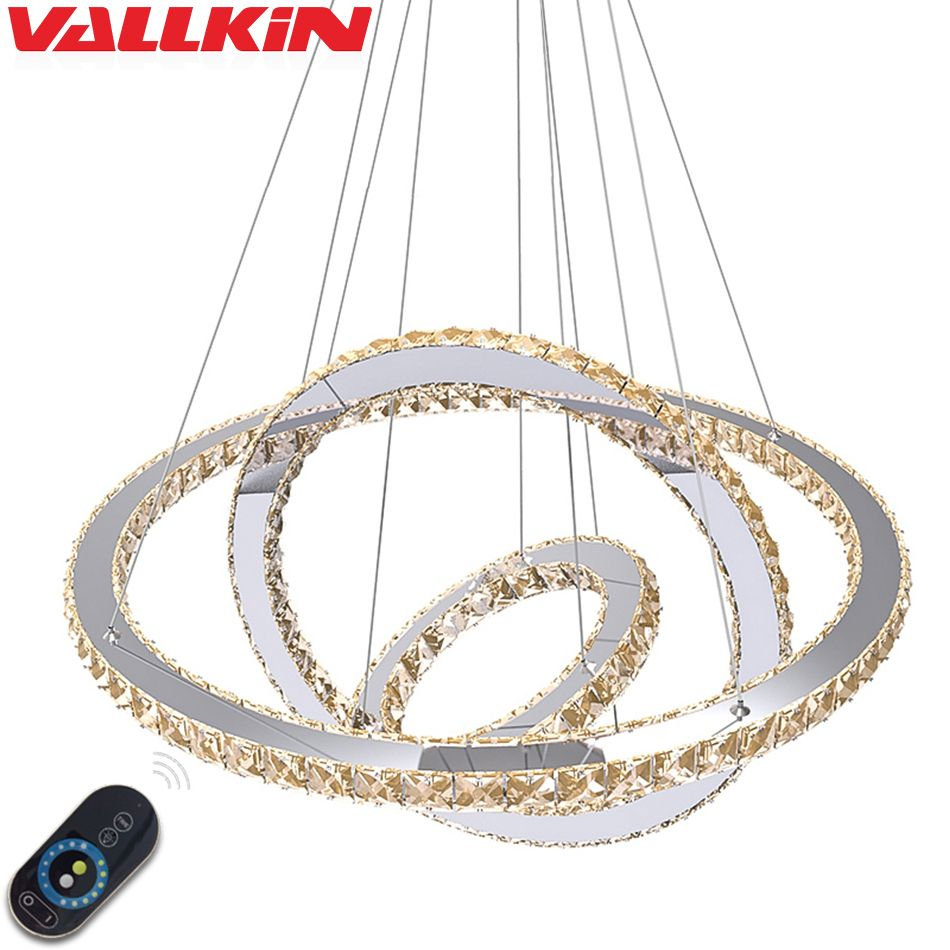 DIMMABLE LED Crystal Pendants for Chandeliers Lamp Lamps Pendant Lamp Fixtures with Remote Control for Dining Room Hotel Home