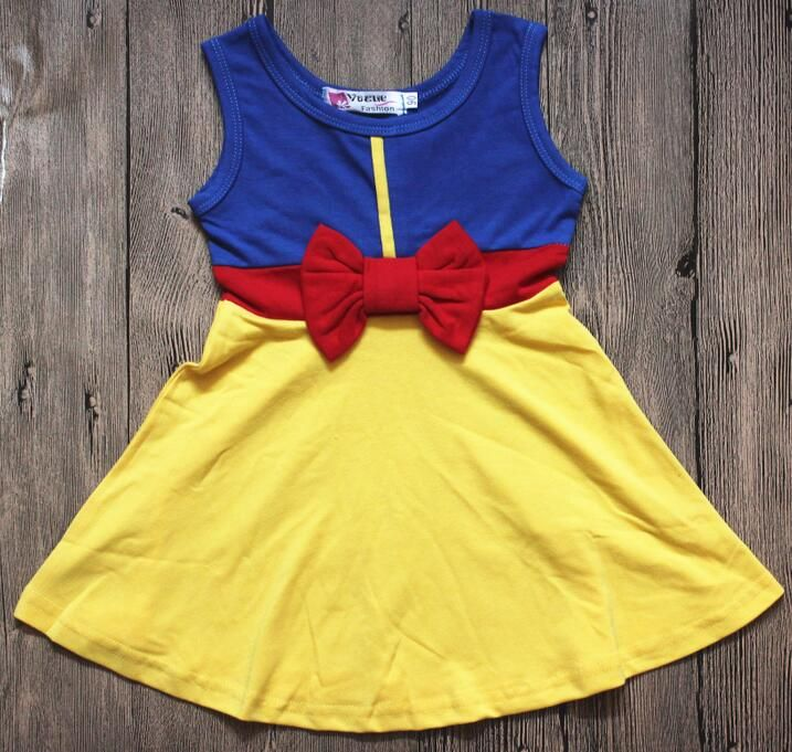 2017 New Girls Boy Clothing White snow princess dress Clothing,Kids Clothes,Cotton girls dress kids dress ,Family Clothing