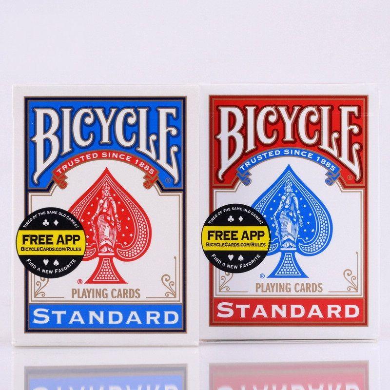 2 pièces/ensemble USA natif vélo Deck rouge et bleu magique cartes à jouer régulières cavalier retour Standard ponts tour de magie 808 ponts scellés