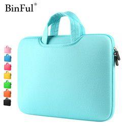BinFul Multicolore Souple Laptop Sleeve 11 13 15 15.6 pouce Sac D'ordinateur Portable cas Pour Macbook Air 13 Pro Retina 15 Portable Sacs 12 ''14''